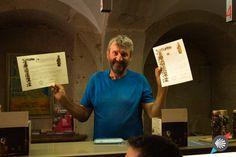 Joyful pilgrim with his #certificates #CaminodeSantiago photo made by Katarzyna Kędzierska