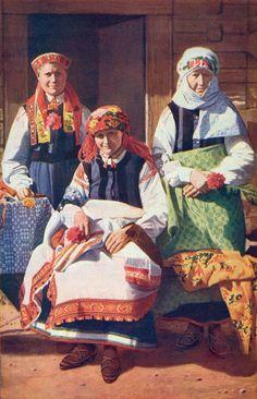 Latvian folk costume - Rucava