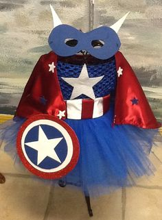Captain America  tutu costume complete by parisianbridal on Etsy, $64.00