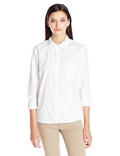 Classroom Uniforms Juniors Long Sleeve Oxford Shirt, White, X-Large *** Check this awesome image @