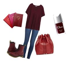 """""""Back to school  2/3"""" by alishamariecat ❤ liked on Polyvore featuring Paige Denim, Zara, Christian Dior, Dr. Martens, Proenza Schouler and Sloane Stationery"""