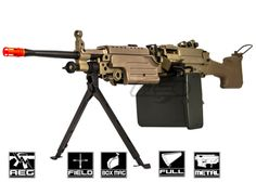 Realistic Weight Built in Bipod Includes Box Magazine, Battery, and Charger FPS: Airsoft Gear, Tactical Gear, Military Guns, Paintball, Cool Toys, Firearms, Nerf, Survival, Cool Stuff