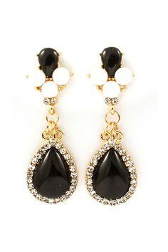 Ebony Crystal Claudia Earrings   Emma Stine Jewelry Earrings