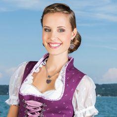 Glitzerherzerl-Ohrhänger Mia (lila)