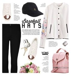 """Baseball cap style - Yoins"" by yexyka ❤ liked on Polyvore featuring adidas, Diane James, Love Moschino, baseballcap, baseballhats, yoins, yoinscollection and loveyoins"