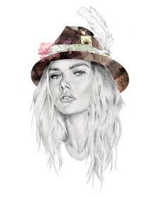 Antoinette Fleur is a young French fashion illustrator. She works with a felt pen and creates fantastic images of fashionable Parisians. Stunning and amazing work, frankly speaking I've never seen anything like that.