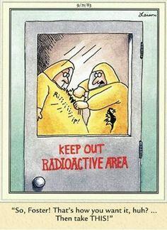 """The Far Side"" by Gary Larson. Far Side Cartoons, Far Side Comics, Physics Humor, Engineering Humor, Cartoon Jokes, Funny Cartoons, The Far Side Gallery, Gary Larson Far Side, Gary Larson Cartoons"