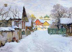Konstantin Gorbatov, Winter Evening in Pskov on ArtStack #konstantin-gorbatov #art