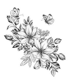 Hand drawn floral bunch with various big and small flowers and butterflies isola&; Hand drawn floral bunch with various big and small flowers and butterflies isola&; Blackstone blackdesignfiles Sobre Mim Templates Hand drawn […] and butterfly tattoo Cute Tattoos, Unique Tattoos, Body Art Tattoos, Small Tattoos, Tattoos For Guys, Hand Tattoos, Tatoos, Hamsa Tattoo, Arm Tattoo