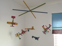 DIY Plane Mobile, I like the big size of this one