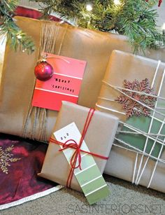 5 Creative ways to wrap holiday gifts using craft paper by @Jenna_Burger via sasinteriors.net