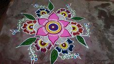 Free Hand Rangoli Design, Rangoli Ideas, Rangoli Designs Diwali, Kolam Rangoli, Simple Rangoli, Rangoli Colours, Indian Rangoli, Beautiful Rangoli Designs, Siri