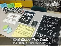 Spark Student Motivation: Kind is the New Cool! Free resources to spread kindness through your classroom and school! Kindness Projects, Kindness Activities, Kindness Ideas, Youth Activities, Kindness Challenge, Student Leadership, Classroom Community, School Community, Classroom Posters