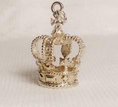 Vintage Sterling Silver English Royal Crown Charm - Queen of the Castle on Etsy, $12.00