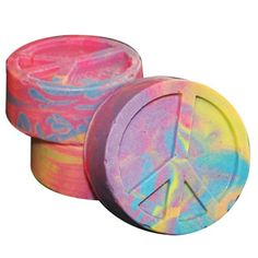 World Peace Cold Process Soap Recipe is a diy tie dye soap from Natures Garden Soapmaking Supplies.  Learn how to make this groovy peace sign soap.