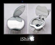 fans, funni, bathrooms, toilets, mac, ipoo toilet, apples, steve jobs, design