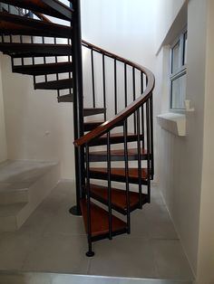 Spiral staircase - timber and steel designed and built by MEWA Fine Woodworking Spiral Staircase, Fine Woodworking, Craftsman, New Homes, Stairs, Steel, Building, House, Design