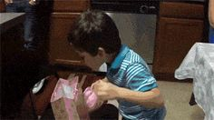 Kid gets a banana as a prank gift from his parents on his birthday. Look at his excitement. This kid is my hero.