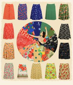 Rock it with King Louie vintage inspired skirts!