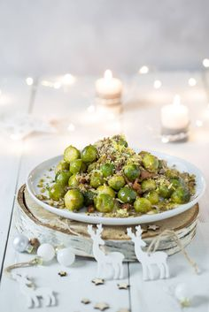 Sprouts with preservative free chorizo and a chestnut and lemon crumb. Grain, gluten and dairy free. Perfect for a healthy free form Christmas.