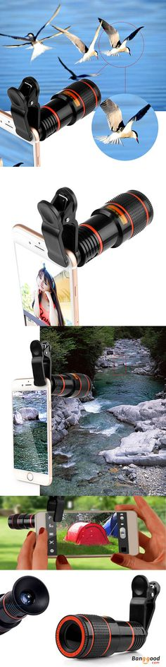 US$9.49 + Free shipping. 12 times zoom, which can adjust the focal length. Make your short-sighted camera/phone into a Telephoto. Can be used as a binocular separately. Suitable for most cameras and mobile phones. Camera Lens, Camera Gadgets.