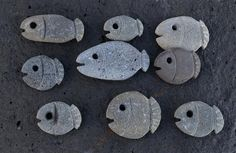 ∷ Variations on a Theme ∷ Collection of stone fishes | WIM DEL ARTE 2