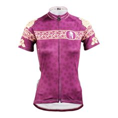 Ilpaladino Violet Arabesquitic Women s Summer Short-Sleeve Cycling Jersey  Biking Shirts Breathable Sport Clothes Apparel f425cddc7