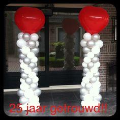 Ballon pilaren met tophart