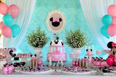 Kixodó Festas e Locações: Minnie Tiffany e Rosa...da Larissa!