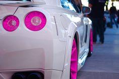 White ride, Pink rims and lights. White ride, Pink rims and lights. White ride, Pink rims and lights. White ride, Pink rims and lights. Nissan Gt R, Nissan Skyline R33, Skyline Gtr, Nissan 240sx, Maserati, Bugatti, Gtr R34, Aston Martin, Bmw F 800 R