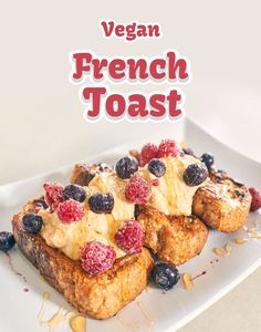Easy Vegan French Toast!!  Delicious for all hours of the day via @https://au.pinterest.com/dvegans/