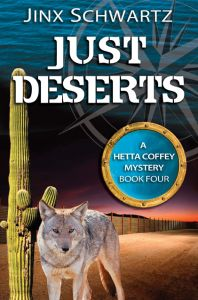 """FREE - Mystery in """"Just Deserts""""  by Jinx Schwartz  Just Deserts by Jinx Schwartz  (Hetta Coffey Series Book 4) $2.99 - FREE Oct. 11-15, 2014 Hetta Coffey is a woman with a yacht, and she's not afraid to use it!As a self-employed engineering consultant with a penchant of oddball (read: shady) projects, she has a way of attracting trouble.With her floating home drydocked for repairs in Mexico, Hetta needs a place to live and a job to pay for boat repairs. Landing a"""