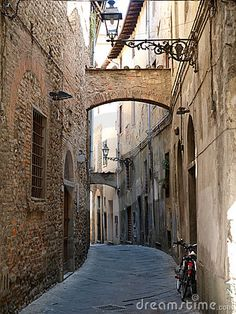 'via Della Torre' in the Old Town of Pistoia, Tuscany, Italy - x - Peel and Stick Wall Decal by Wallmonkeys Mural Wall Art, Wall Decal, Decals, Sidewalk Cafe, Road Trip Europe, Cafe Wall, Old Street, Medieval Town, Wall Wallpaper