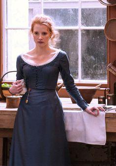 Jessica Chastain in Miss Julie, 2014.