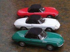 Parade of three Alfa Romeo Giulia 1600 Spider Duetto                                                                                                                                                                                 More