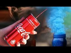 How to make a colored smoke bomb from Coca Cola - YouTube