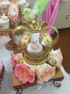 Lovely decorations at a Little Princess Birthday Party!  See more party ideas at CatchMyParty.com!