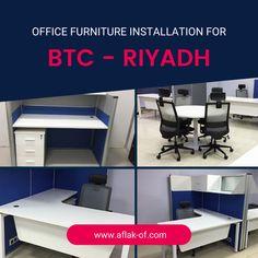 #OfficeFurniture Installation by #Aflak for #BaudTelecomCompany (BTC) #Riyadh #SaudiArabia. Office Furniture, Office Desk, Glass Desk, Conference Table, Riyadh, Jeddah, Room, Home Decor, Window Table