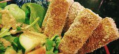Crispy Breaded Tofu Nuggets recipe - no oil. From plantbasedonabudget.com