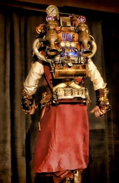 Today's Steampunk (Online) Costume Contest entries start with this diving suit from David Lee. I am the maker of this costume. I was inspired by the dive suit I made for Mike Seals of Dallas,… Steampunk Accessories, Steampunk Clothing, Steampunk Outfits, Diving Helmet, Diving Suit, David Lee, Retro Futuristic, Costume Contest, Atlanta Georgia