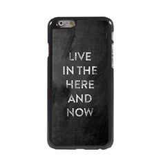 KARJECS iPhone 6 Case Cover Live In The Here And Now Characteristic Quote Metal Hard Case Cover Skin for iPhone 6 KARJECS http://www.amazon.com/dp/B0142GGWHM/ref=cm_sw_r_pi_dp_leS1vb1735ZTD