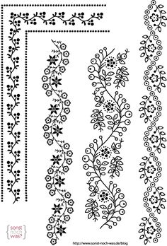 Hand Embroidery Designs, Embroidery Stitches, Embroidery Patterns, Mandala Drawing, Mandala Art, Dibujos Zentangle Art, Kalamkari Designs, Wreath Drawing, Turkish Art