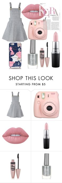 """""""done ✔"""" by qviqvoqvi ❤ liked on Polyvore featuring Fujifilm, Lime Crime, MAC Cosmetics, Maybelline, New Look and Kate Spade"""