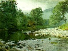 """Anders Zorn """"Engelsk fors"""" (1884). Akvarell 25 x 35 cm. Zornsamlingarna."""