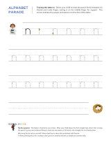 Lowercase n letter tracing worksheet, with easy-to-follow arrows showing the proper formation of the letter.