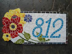 Números feitos em mosaico com base em cerâmica <br>Fazemos números personalizados <br>Frete a contratar