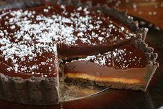 Tarte au chocolat et caramel beurre salé7