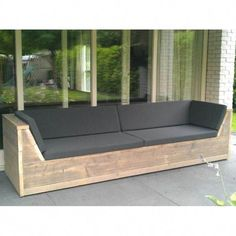 Diy Garden Furniture, Deck Furniture, Pallet Furniture, Pallet Lounge, Lounge Sofa, Pallet Cushions, Outdoor Couch, Outdoor Lounge, Wooden Scaffolding