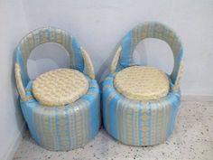 cr ation de pouf avec des pneus par un jeune tunisien recyclage pneus recycl s et artisanat. Black Bedroom Furniture Sets. Home Design Ideas