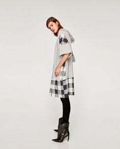 COMBINED SWEATSHIRT DRESS | ZARA United States